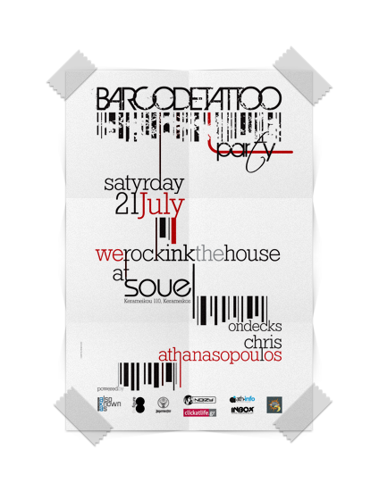 Barcode Party Poster Frame